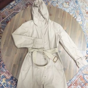 J.Crew hooded trench coat